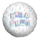 "18"" It's A Girl Pins Mylar Balloon"