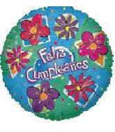 """18"""" Feliz Cumpleanos Flores"""