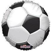 """18"""" Soccer Ball Mylar Balloon"""