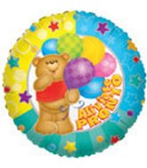 "18"" Aliviate Pronto Bear w/Baloons"