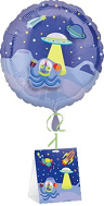 """18"""" Decorate Own Balloon Outerspace with Weight"""