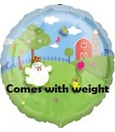 """18"""" Decorate Balloon Farm with Stickers Weight"""