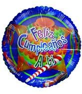 """36"""" Feliz Cumpleaños Piñata Jumbo Blue Balloon"""