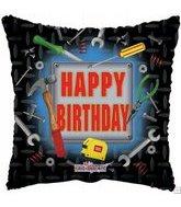 "9"" Airfill Happy Birthday Tools Square M776"