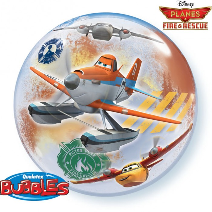 """22"""" Disney Planes Fire and Rescue Bubble Balloons"""