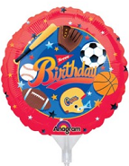 "9"" EZ Fill Airfill Little Champ Birthday (3 Pack)"