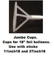 "18"" Foil Balloon Cup (Single Piece) Sticks Sold Separate"