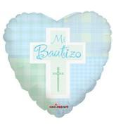 "18"" Mi Bautizo Blue Mylar Balloon"