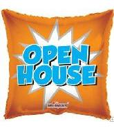 "18"" Orange Open House Starburst"