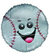 """18"""" Little Friend Kit Baseball Happy Face Balloon"""