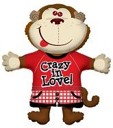 """36"""" Monkey Crazy in Love Jumbo Balloon"""