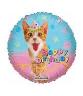 """9"""" Airfill Happy Birthday Cat Party"""
