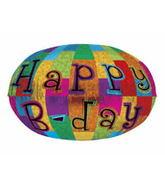 "18"" Happy Birthday Prismatic Balloon"