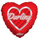 "9"" Airfill Only Darling Hearts Wreath"