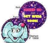 "9"" Airfill Only Lil' Fuzzies Elephant balloon (No Fuzzy)"