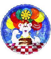 """20"""" Happy Birthday Polar Bear"""