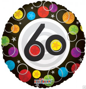 """18"""" Foil Balloon Number 60 Dots"""