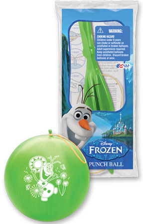 """14"""" 1 Count Punch Ball Frozen Olaf"""
