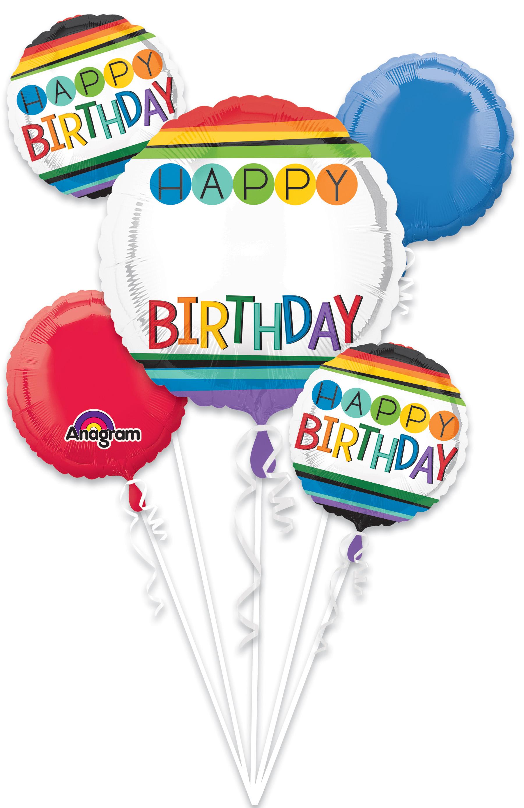 Bouquet Rainbow Birthday Personalize It! Balloon