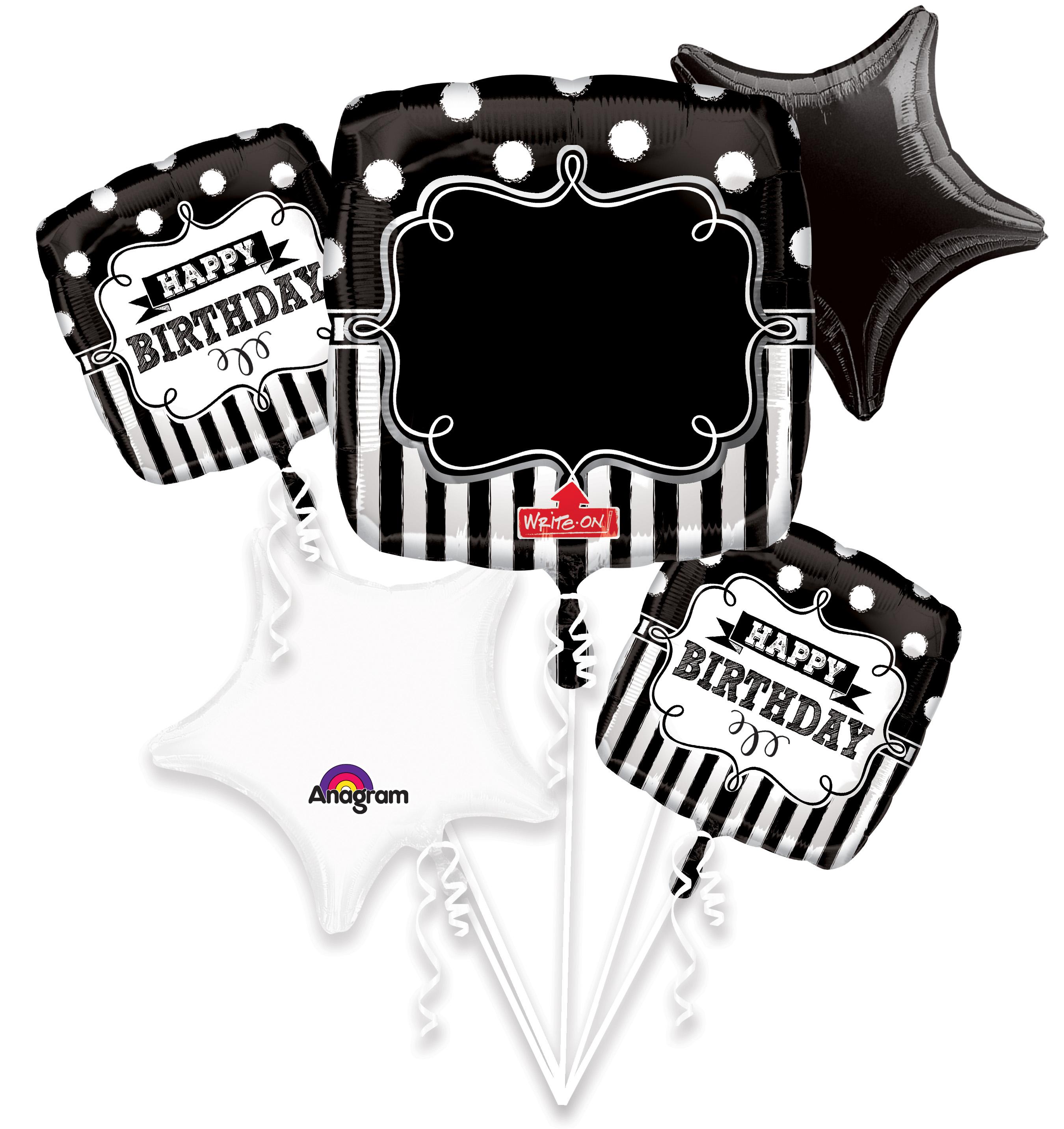 Bouquet Chalkboard Birthday Party Balloon