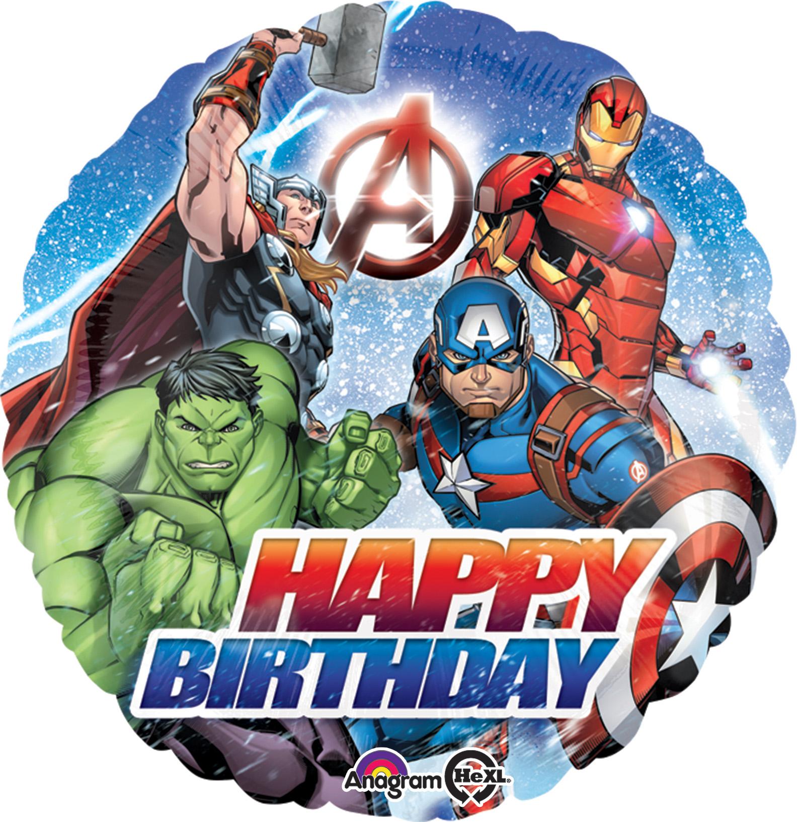 "18"" Avengers Happy Birthday Balloon"