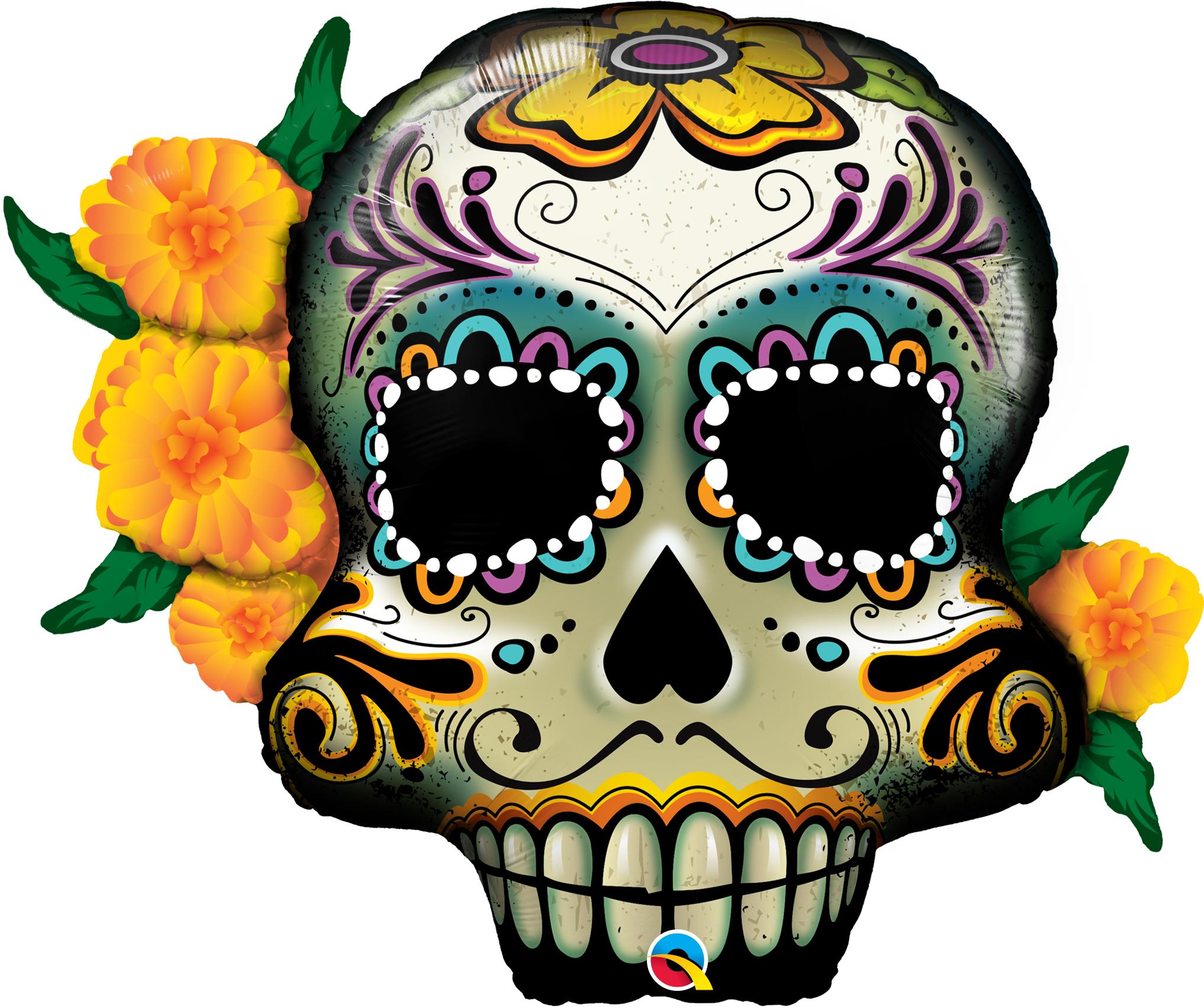 """38"""" Shape Day Of The Dead Skull"""