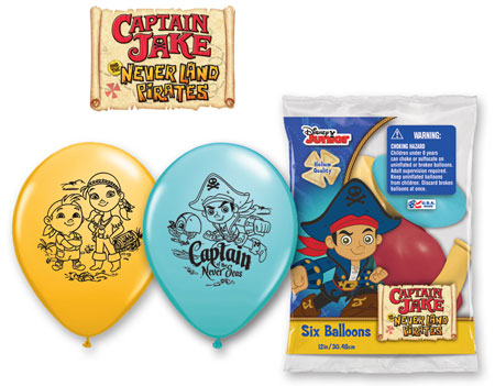 """12"""" 6 Count Special Assorted Jake Never Land Pirates"""