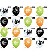 """11"""" Special Assorted 25 Count Star Wars Birthday Assorted"""