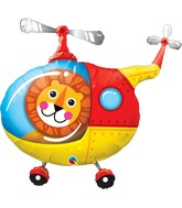 """35"""" Shape Packaged Lion Helicopter Pilot"""