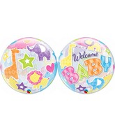 """22"""" Single Bubble Packaged Welcome Baby Animals Patterns"""
