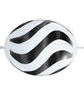 """12"""" Quicklink White 50 Count Wavy Stripes/Black"""