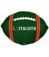 """21"""" University Of Miami Collegiate Football"""