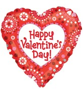 "18"" Happy Valentine's Day Heart Art Balloon"
