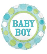 "18"" Baby Boy Dots Balloon"