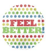 "18"" Retro Tone Dots Feel Better Balloon"