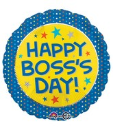 "18"" Boss's Day Yellow & Blue Balloon"