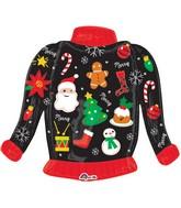 "31"" Ugly Christmas Sweater Balloon"