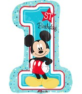 "28"" Mickey 1st Birthday Balloon"
