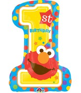 "28"" Sesame Street 1st Birthday Balloon"