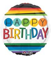 """18"""" Rainbow Birthday Balloon"""