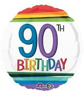 """18"""" Rainbow Birthday 90 Balloon"""