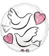 "18"" Wedding Doves Balloon"