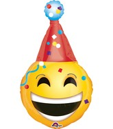 "39"" Emoticon Party Hat Balloon"