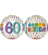 "16"" Happy 60th Birthday Rainbow Balloon"