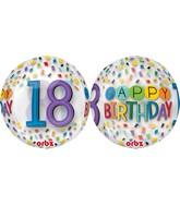 "16"" Happy 18th Birthday Rainbow Balloon"