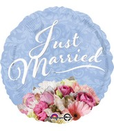 "18"" Just Married Bouquet Balloon"