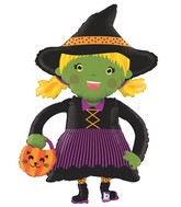 "45"" Foil Shape Linky Witch"