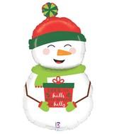 "40"" Foil Shape Holiday Snowman"
