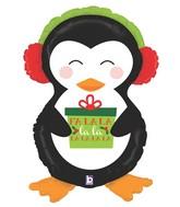"34"" Foil Shape Holiday Penguin"