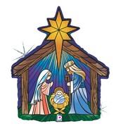 """27"""" Holographic Shape Nativity"""